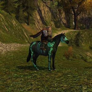 Green Painted Skeleton Pony