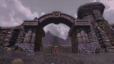 Gate to Fornost City from the Fields of Fornost