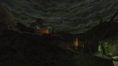 Constant darkness falls over the main goblin fortification