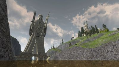 View of Elendil the Tall from the river