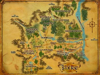 Map of The Shire POIs