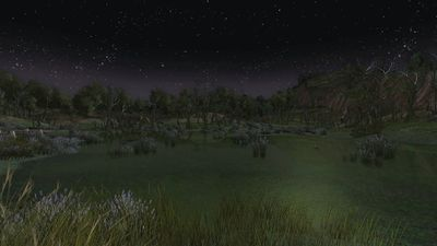 Rushock Bog gets very dark during the night