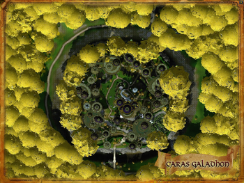 Topographic map of Caras Galadhon