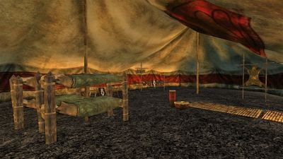 Interior of one of the tents within the stronghold