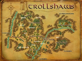 Map of The Trollshaws Named Creatures