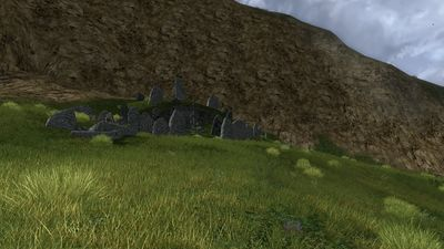 Barrow in the hills of western Andrath