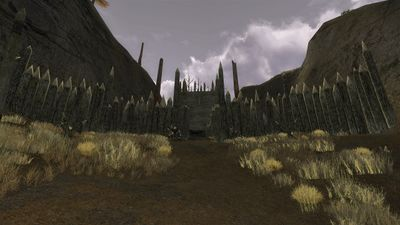 Walled entrance into the goblin camp