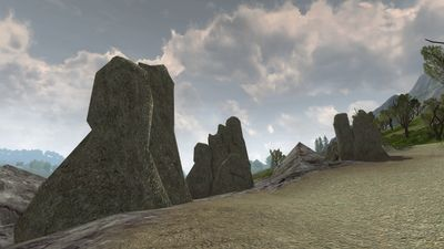 Another view of the norbog hills on the beach
