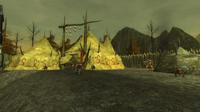 One of the two Uruk-hai command tents