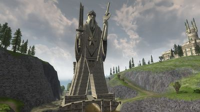The great statue of Elendil the Tall