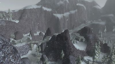 The warg infested Giant ruins in southeastern section of the area