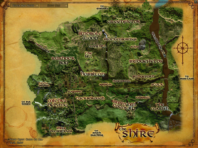 Map of The Shire Topography