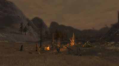 An orc camp on the border of Dol Dinen