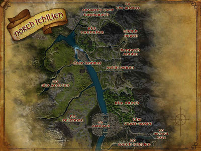 Map of North Ithilien