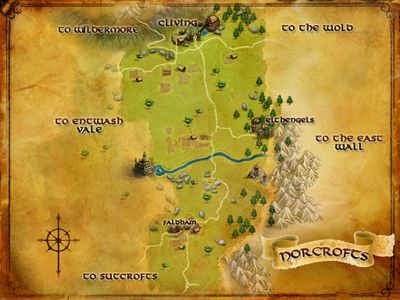 Map of Norcrofts