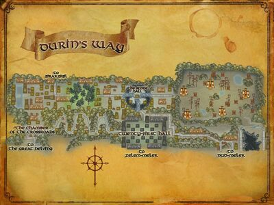 Map of Durin's Way