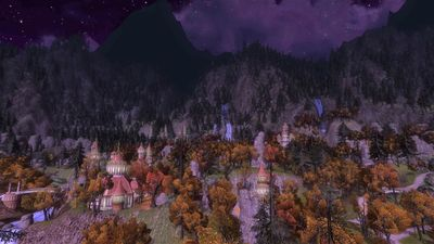 The night sky over Rivendell