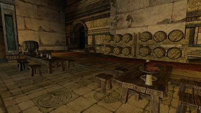 Mess hall in the keep's main room