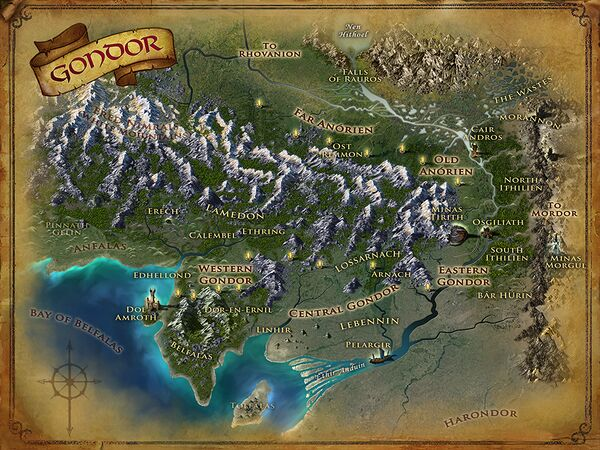 Map of Gondor