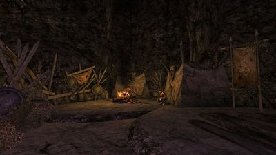 Orc tents within one of the passages