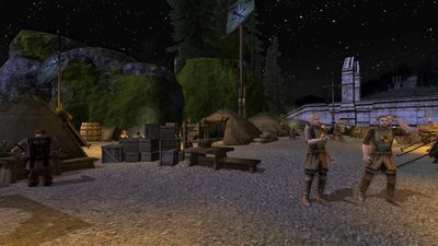 Night sky over the skirmish camp