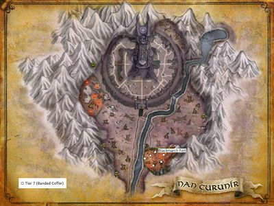 Nan Curunír artifact map