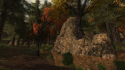 Several large boulders are found throughout the vale