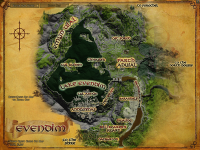 Topographic map of Evendim