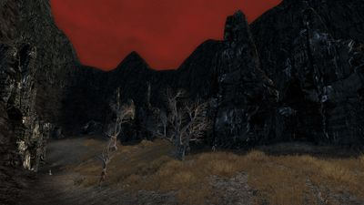 A valley filled with Angmar Coal valued highly by the forces of Angmar