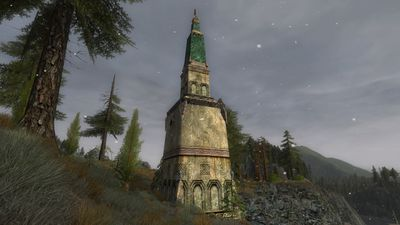 One of many Dwarven spires in eastern Haudh Lin