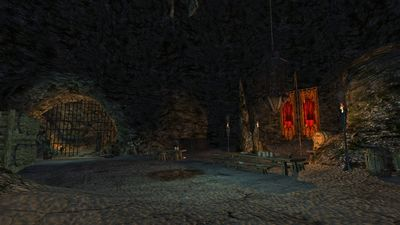 Mess hall in Brigand Cave