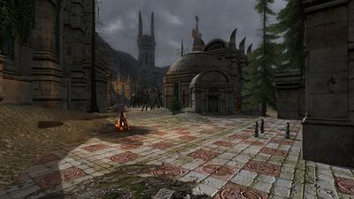 The courtyard of Tirband