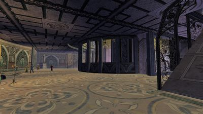 A view of the middle walkway in the elven refuge