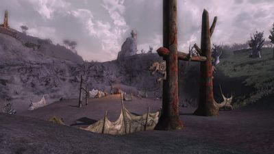 The lower orc camp is much less fortified in comparison to the others