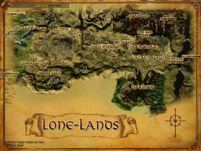 Topographic map of the Lone-lands