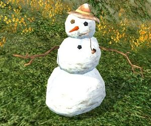 item brown capped snowman   lotro wiki