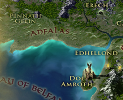 Anfalas on the in-game Gondor map