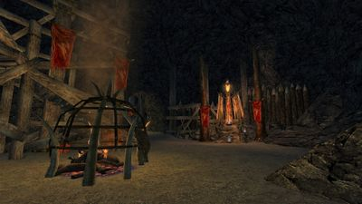 One of several altars at which the goblins perform dark rituals