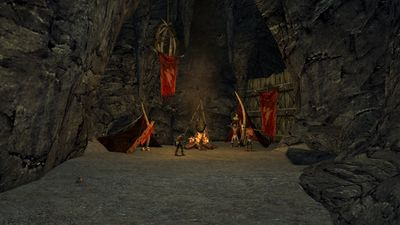 One of several goblin camps in the cave